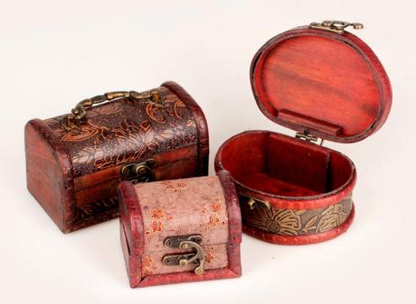 中式小木盒复古木质首饰