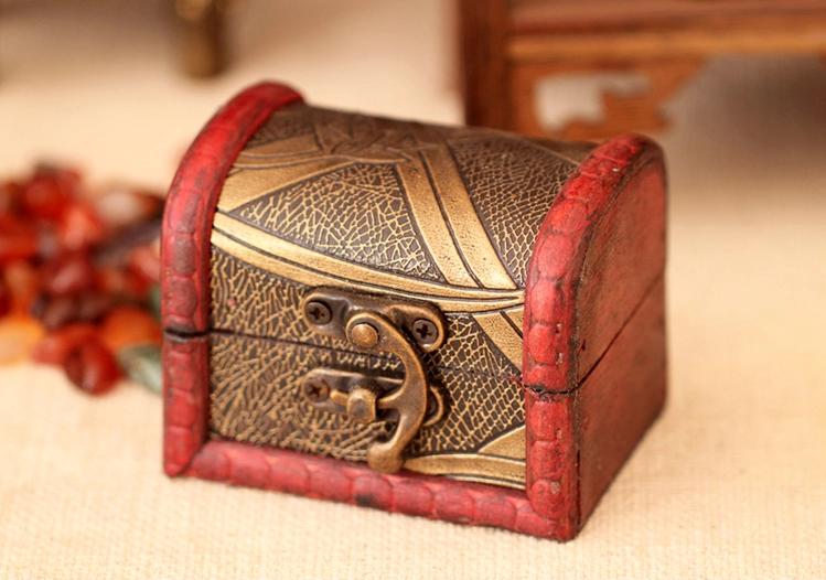 中式小木盒复古木质首饰盒
