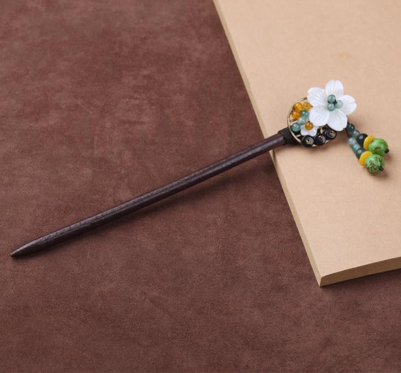 中国古风头饰古典民族风手工木簪子