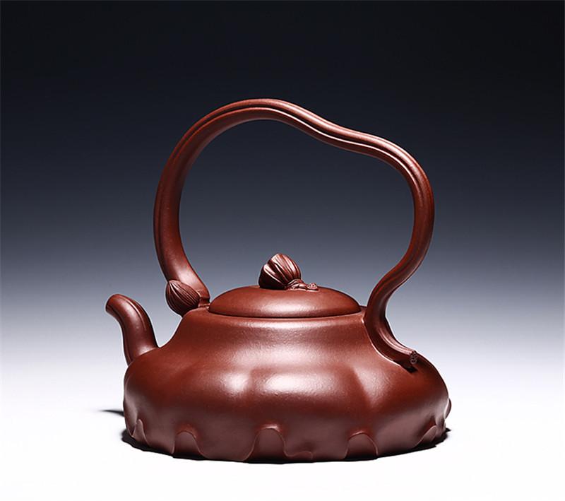珍藏级底槽清荷叶提梁泡茶壶茶具