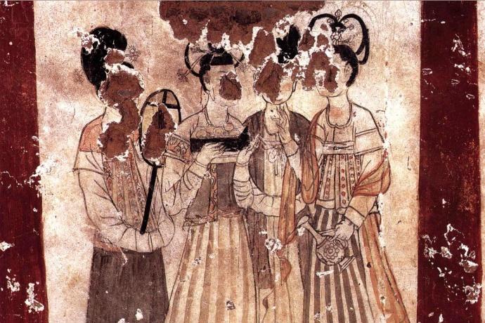 唐昭陵陪葬墓之新城长公主墓壁