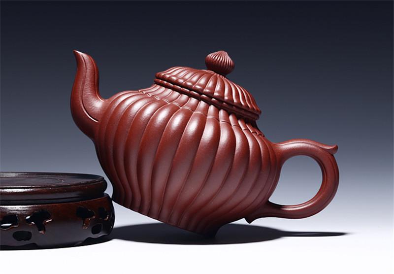 宜兴紫砂壶手工筋囊笑樱壶茶壶