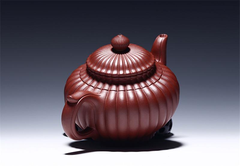 宜兴紫砂壶手工筋囊笑樱壶茶壶具