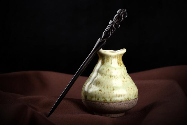 手工复古典中国风黑檀木发簪木质簪子