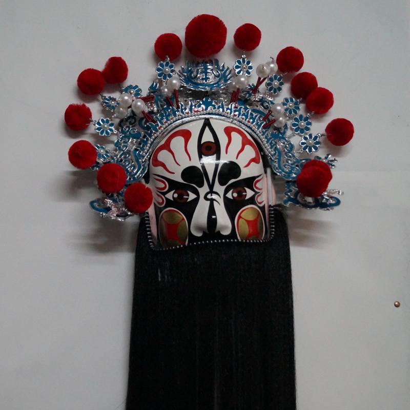 民族特色纯手工京剧脸谱装饰