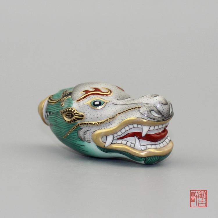 手绘粉彩描金龙陶瓷鼻烟壶