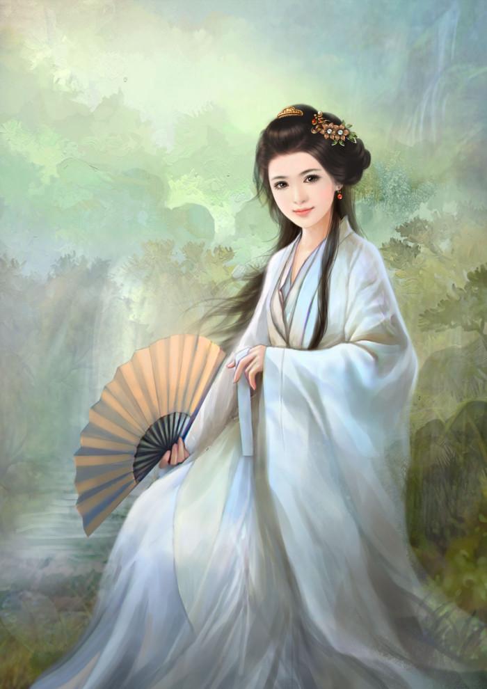 淡雅温婉的古风美女插画欣赏
