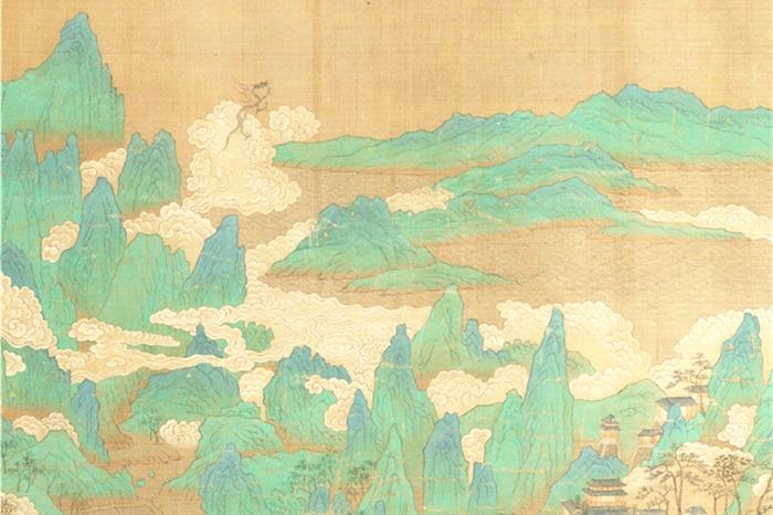 明朝国画《海天旭日图》