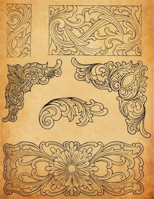中国工艺纹样之木雕花纹