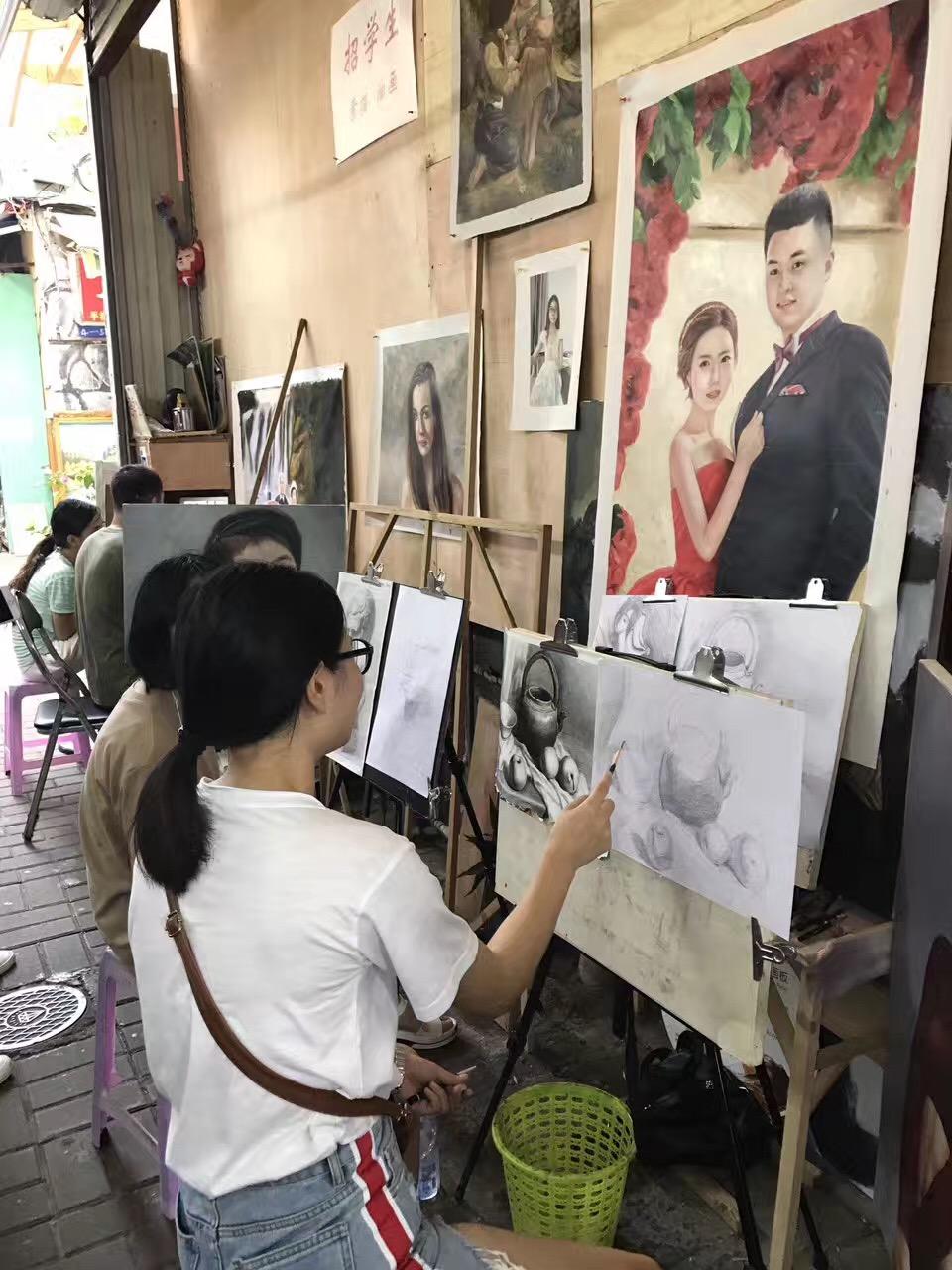深圳大芬油画村,诗与远方的低角度存在