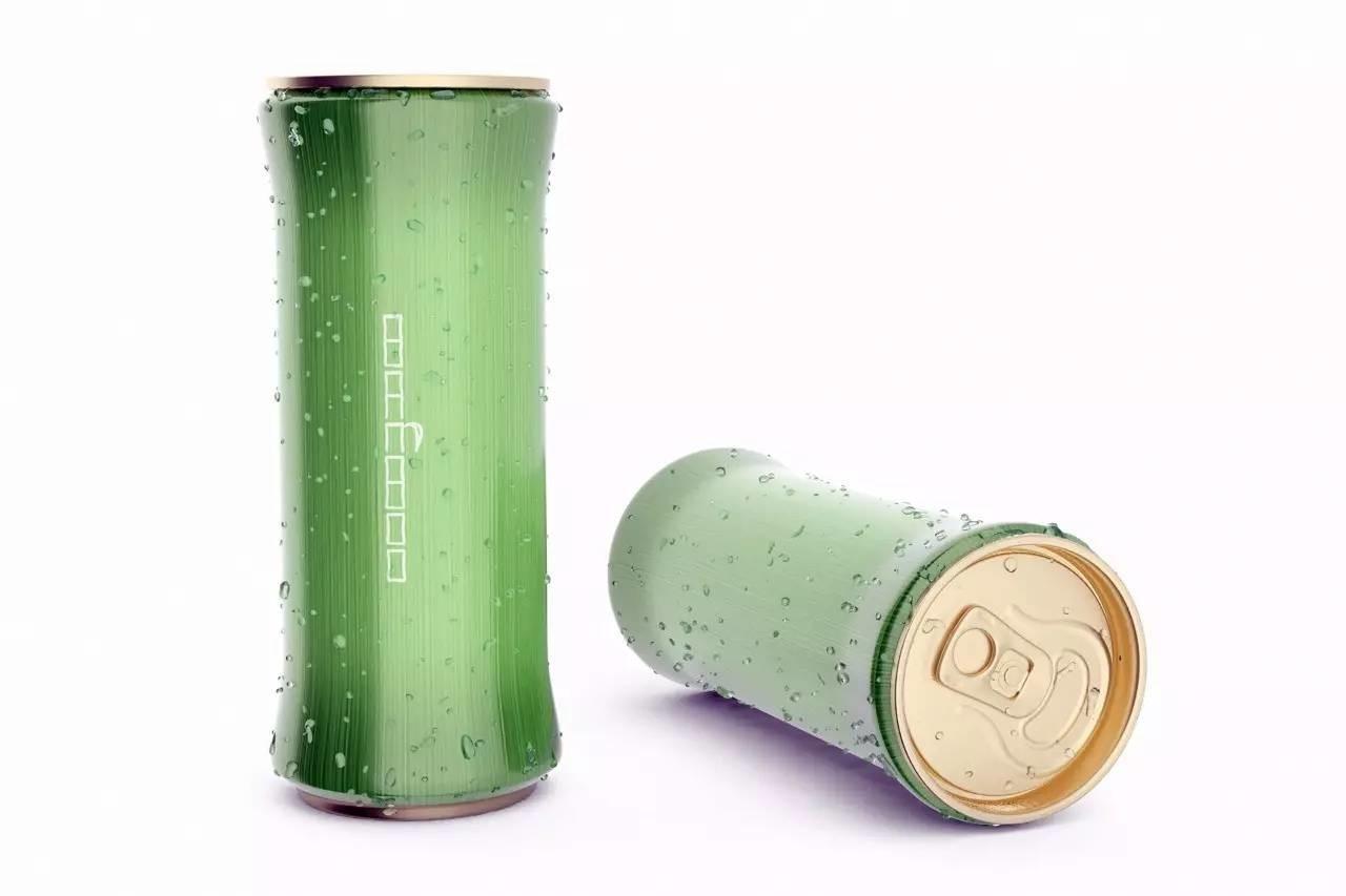 创意清凉的竹子易拉罐饮料包装