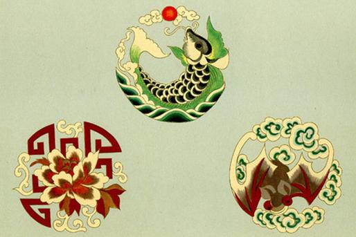 中国传统精美戏服图案