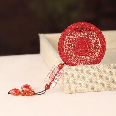 中国风古典红色古风金属小清新书