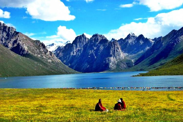 青海唯美圣湖仙女湖