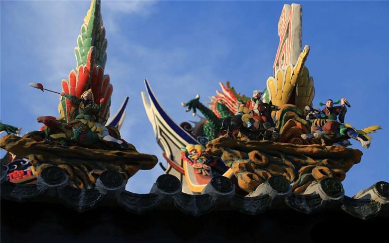 泉州老爷庙剪黏工艺屋顶