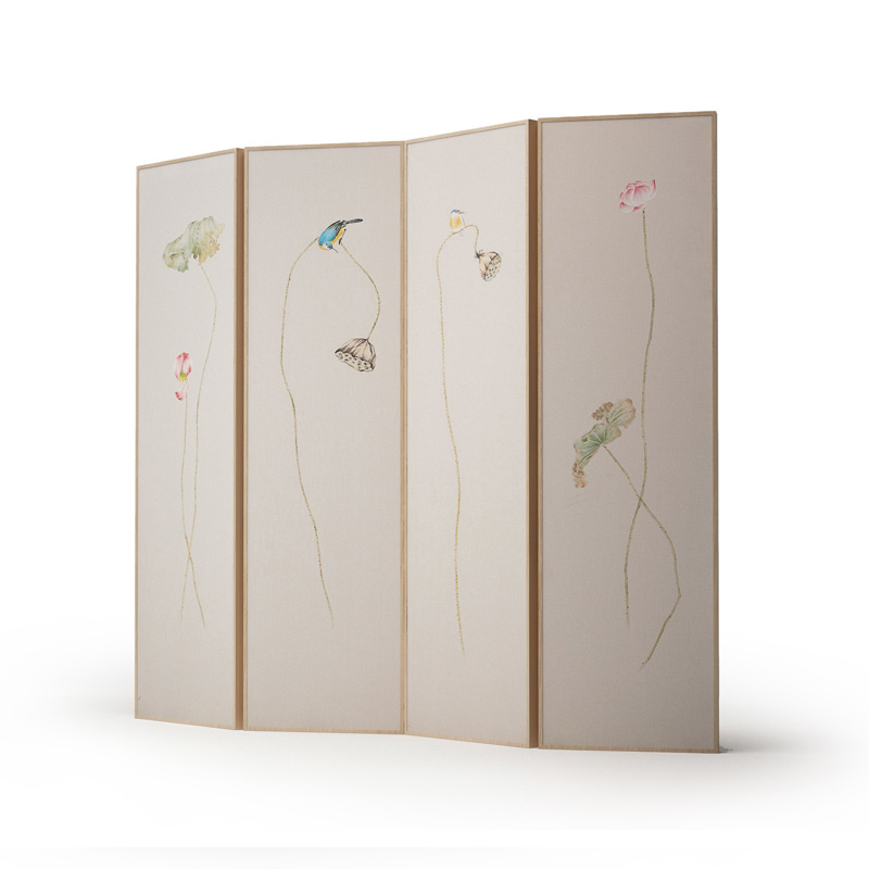 新中式屏风实木现代中式禅意,隔断折叠屏风