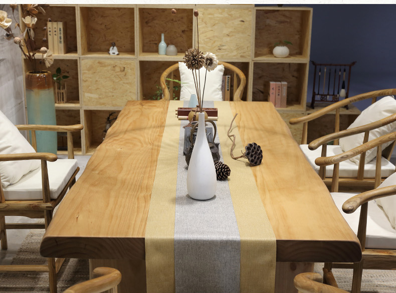 复古纯实木茶桌椅组合,仿古简约功夫茶台