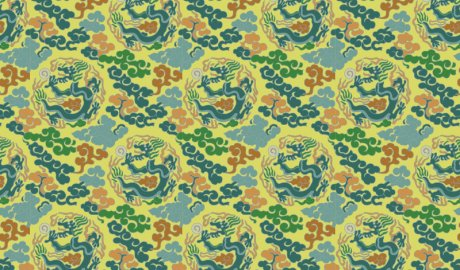 中国传统织锦图案,织锦服饰金