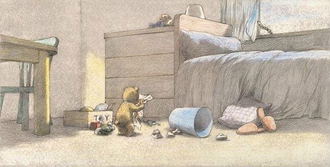 温暖的故事彩铅手绘插画图片