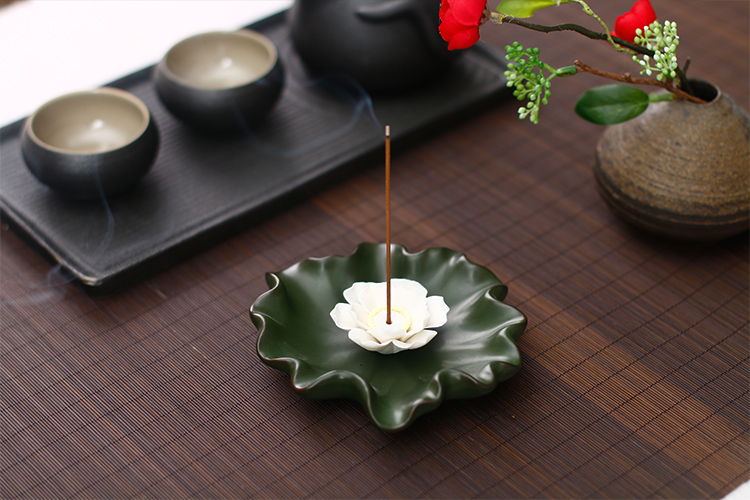 莲花菩提_莲花香炉香插线香炉,创意唯美中式陶瓷熏香炉- 中国风