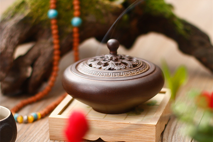 古典创意黑陶香薰炉,家用居室