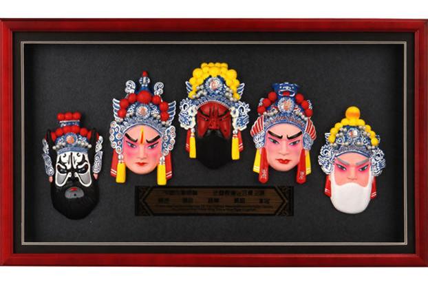 中国传统京剧脸谱人物家居挂件