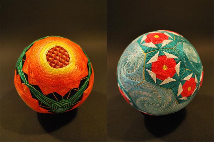 中国传统精美手工手鞠球制作品