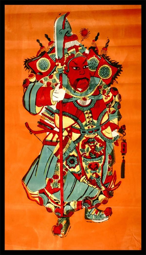 中国风传统精美色彩艳丽的年画