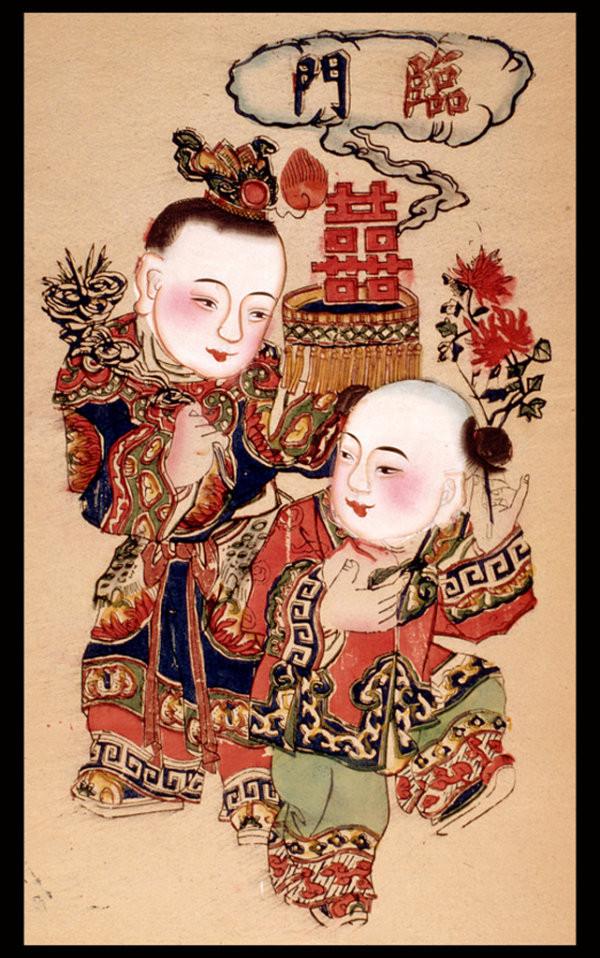 中国风传统精美色彩艳丽的年画(二)