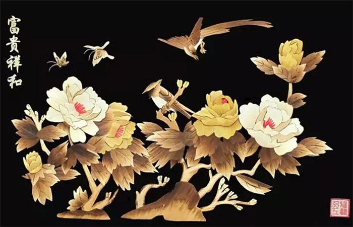 中国文化艺术瑰宝麦烫画