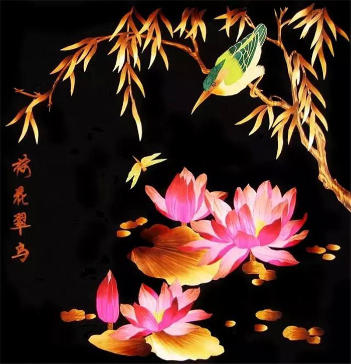 中国文化艺术瑰宝麦烫画作品欣赏