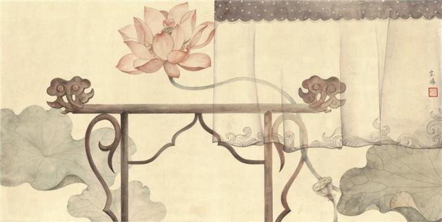 古典清雅宋扬国画植物家具工笔
