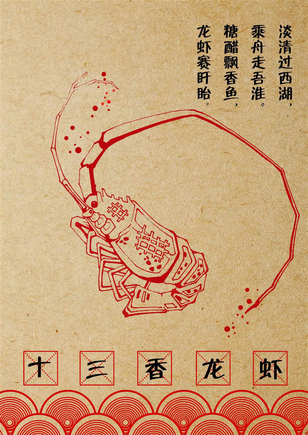 淮安饮食文化宣传海报