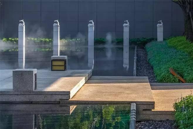 景观设计:拴马桩做的景观