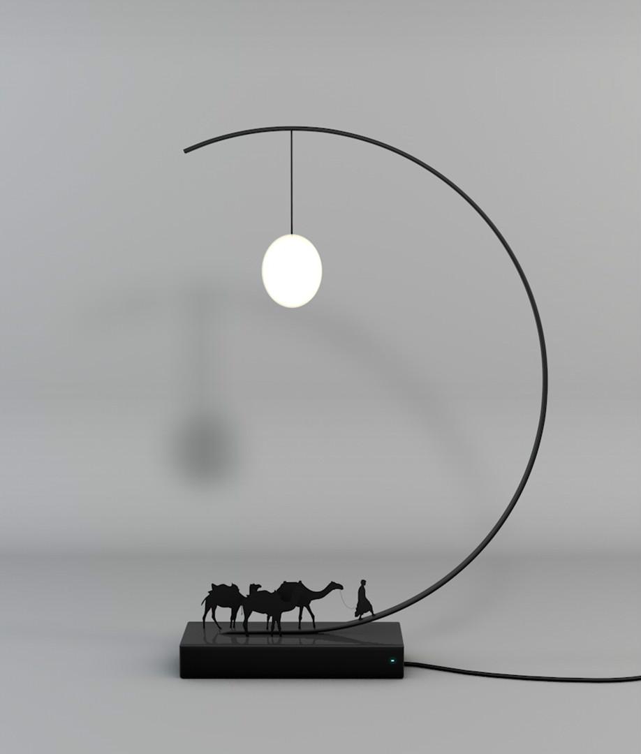 关于丝绸之路的一款创意灯具的设计