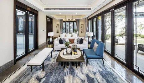 装修设计:新中式客厅最有范的