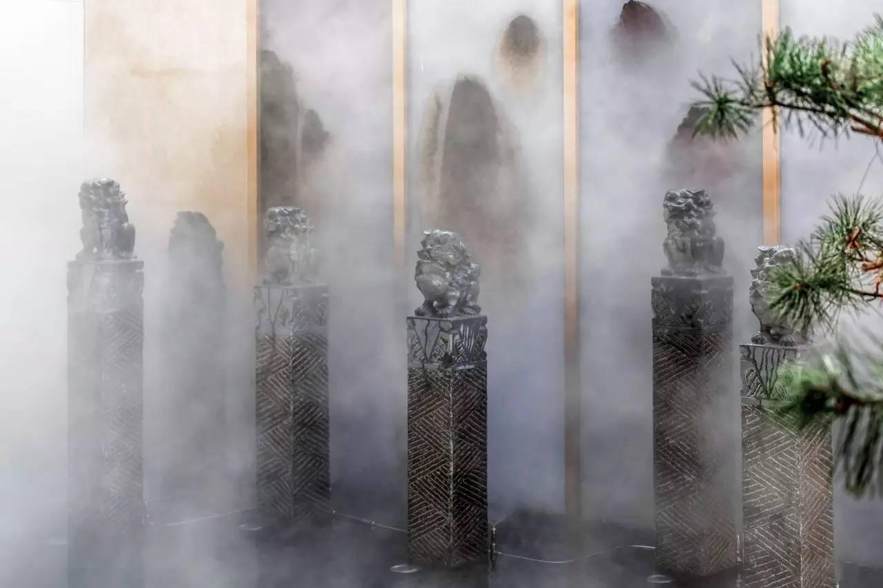 中式景观流行设计元素:栓马桩