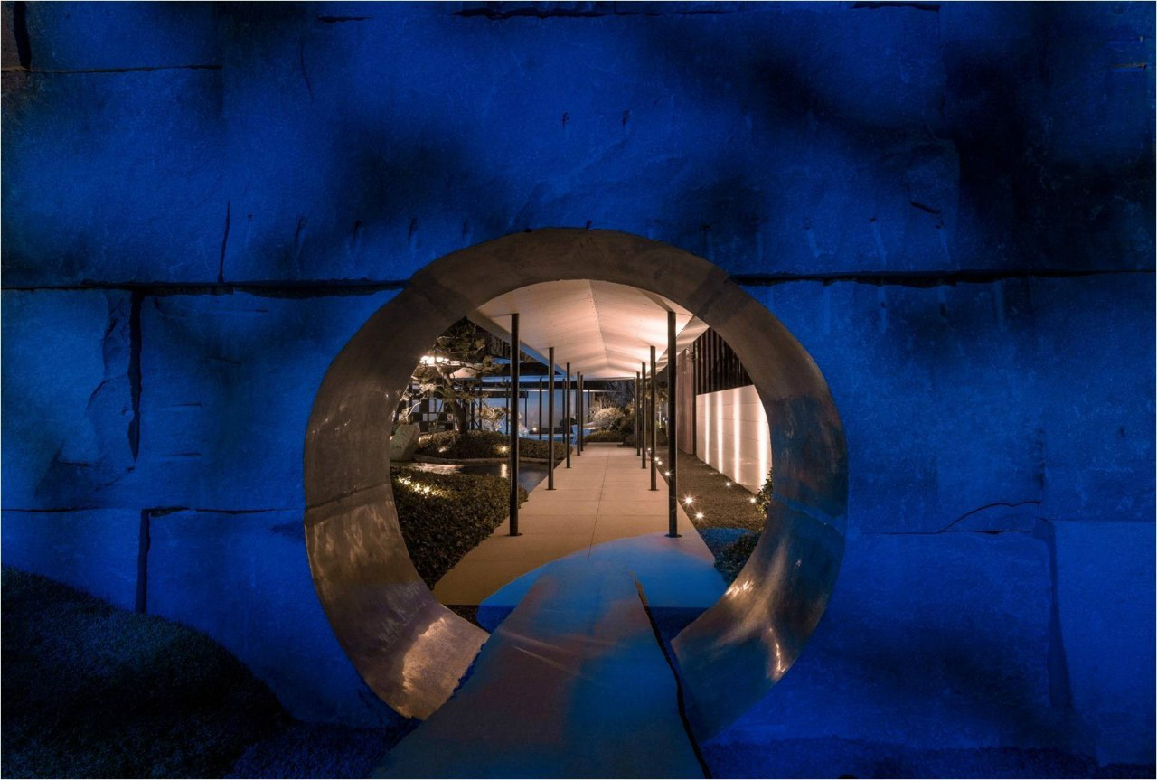 中式景观流行设计元素:月洞门