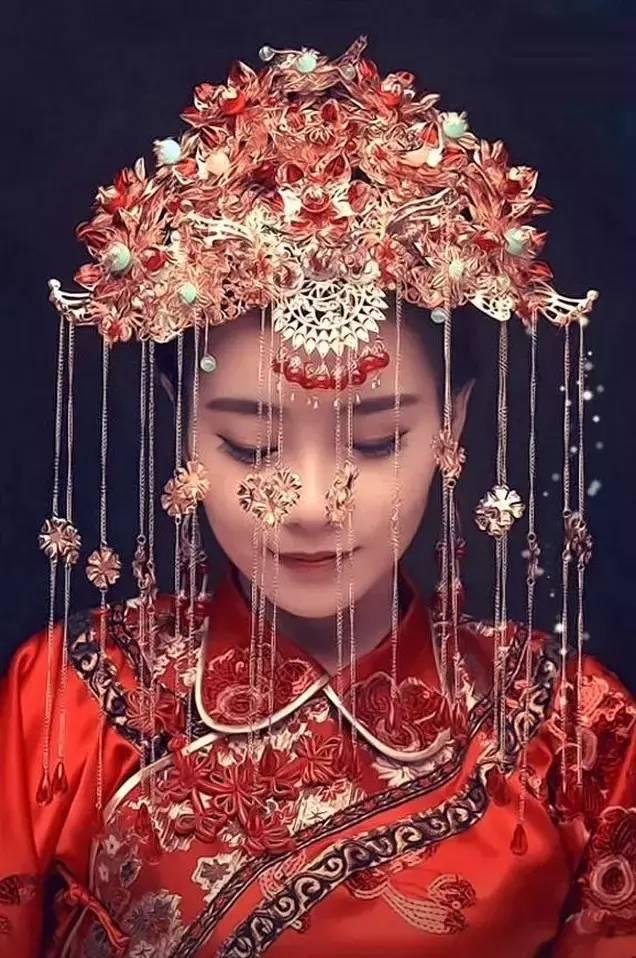 最美中国风嫁衣,中式婚礼中式礼服美醉了
