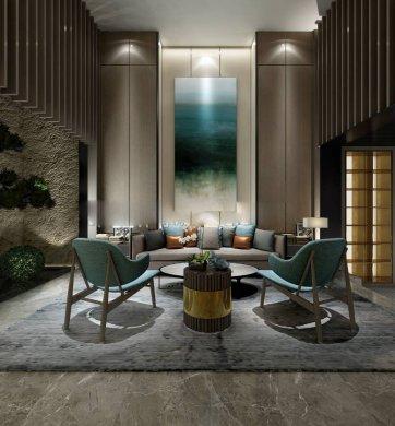 沙发墙装修设计,最美不过新中