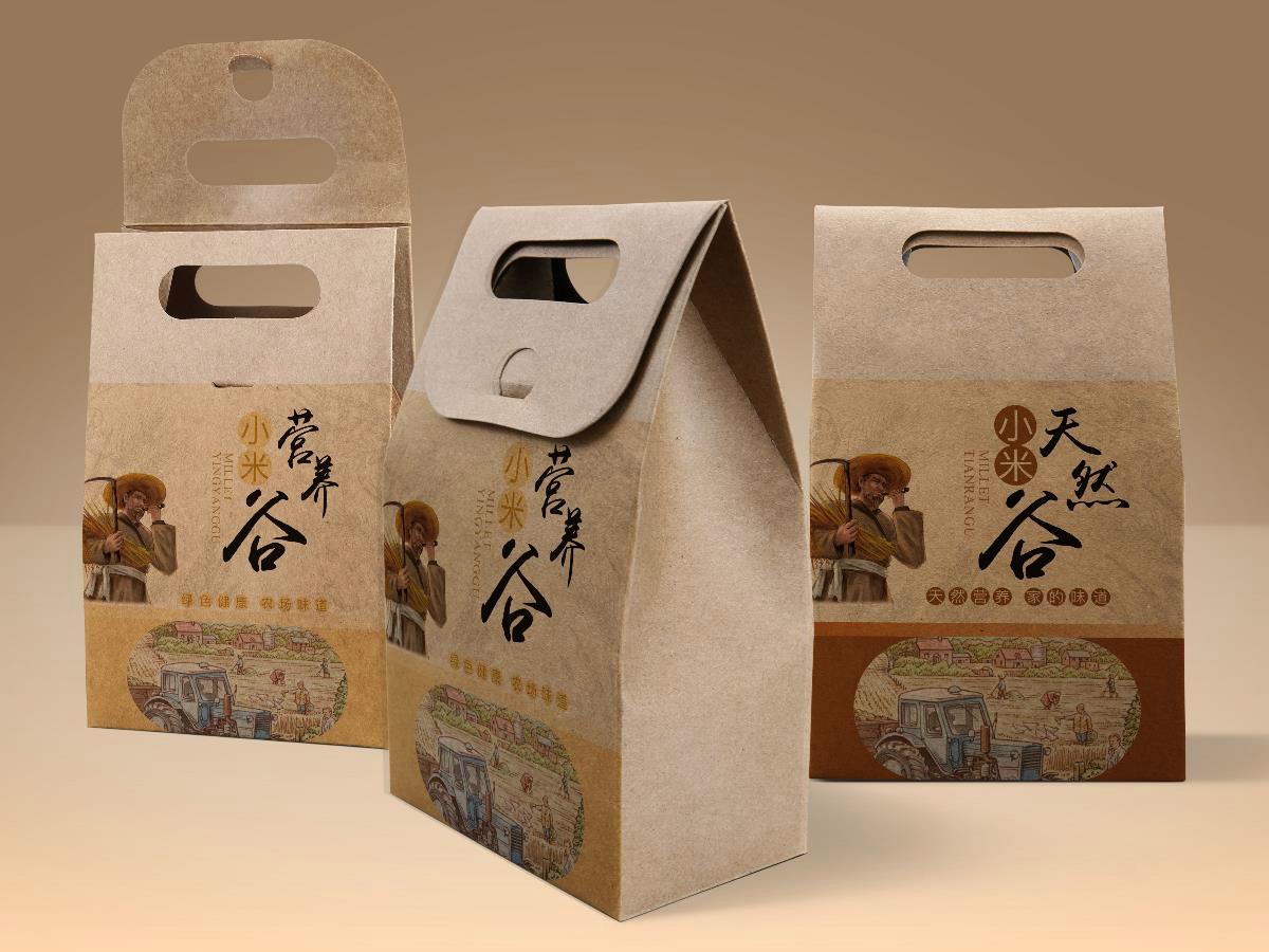 天然营养谷包装贴设计