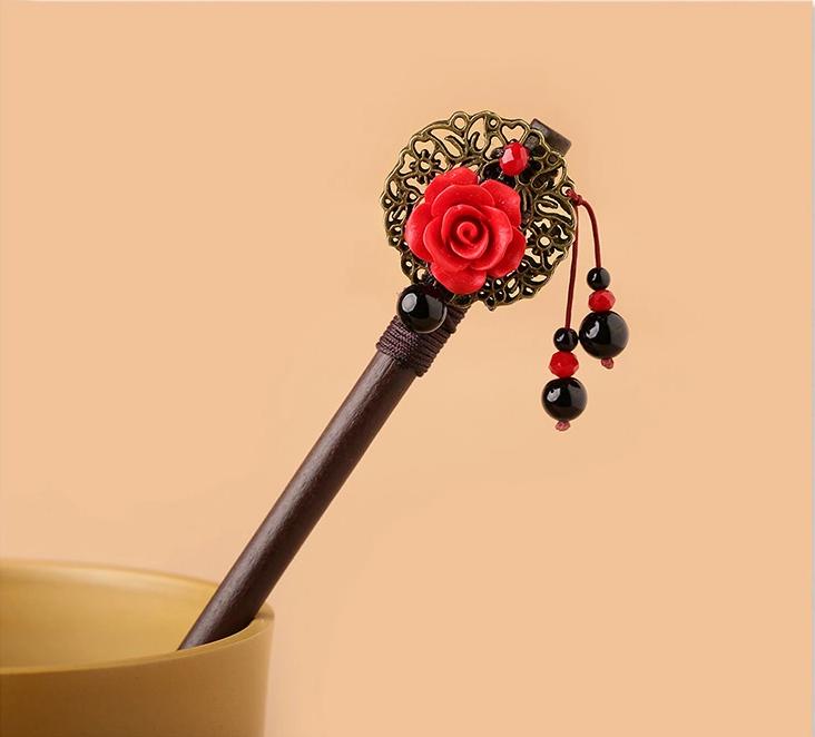 复古中国风古典簪子新娘头饰