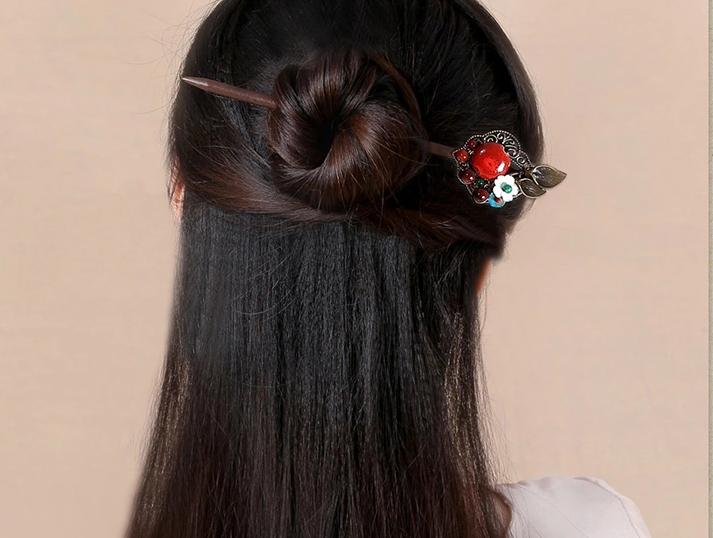 古典长发发簪头饰中国风木簪子