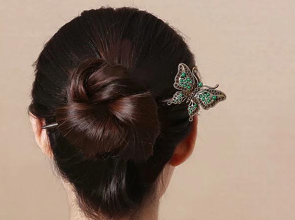 蝴蝶发钗簪子古风盘发头饰