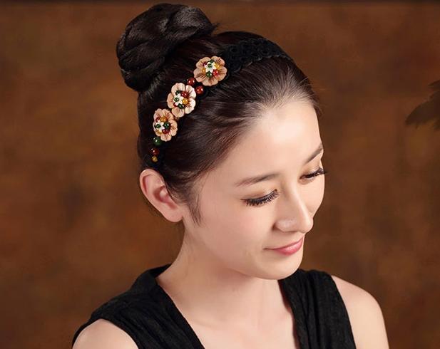 复古民族风贝壳花朵发卡发箍头饰