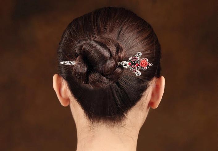 中国风古典花朵盘发簪子头饰