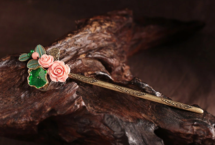 花信中式古典簪子小花头饰