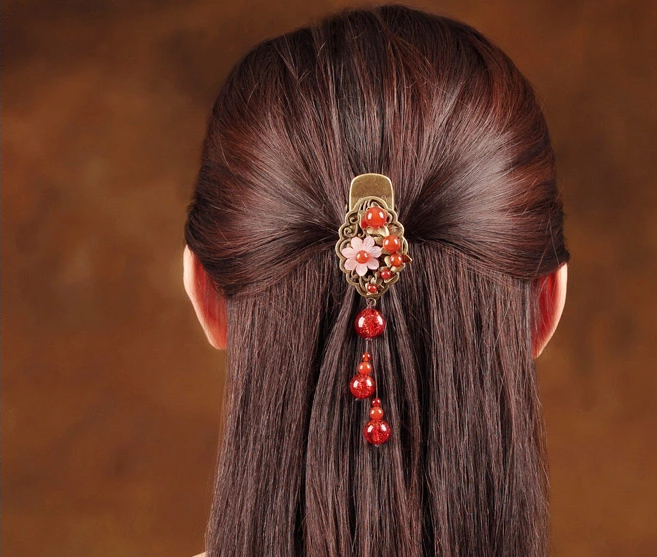 红芳中国风时尚优雅发夹头饰