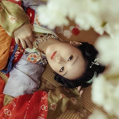 邻家小女时尚中国风唯美古风女子头像