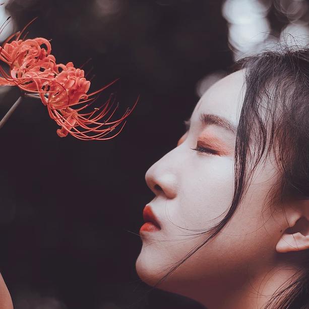 曼珠沙华中国风唯美古风女子头像